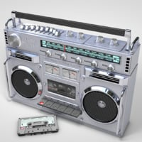 Boom Box and Cassette