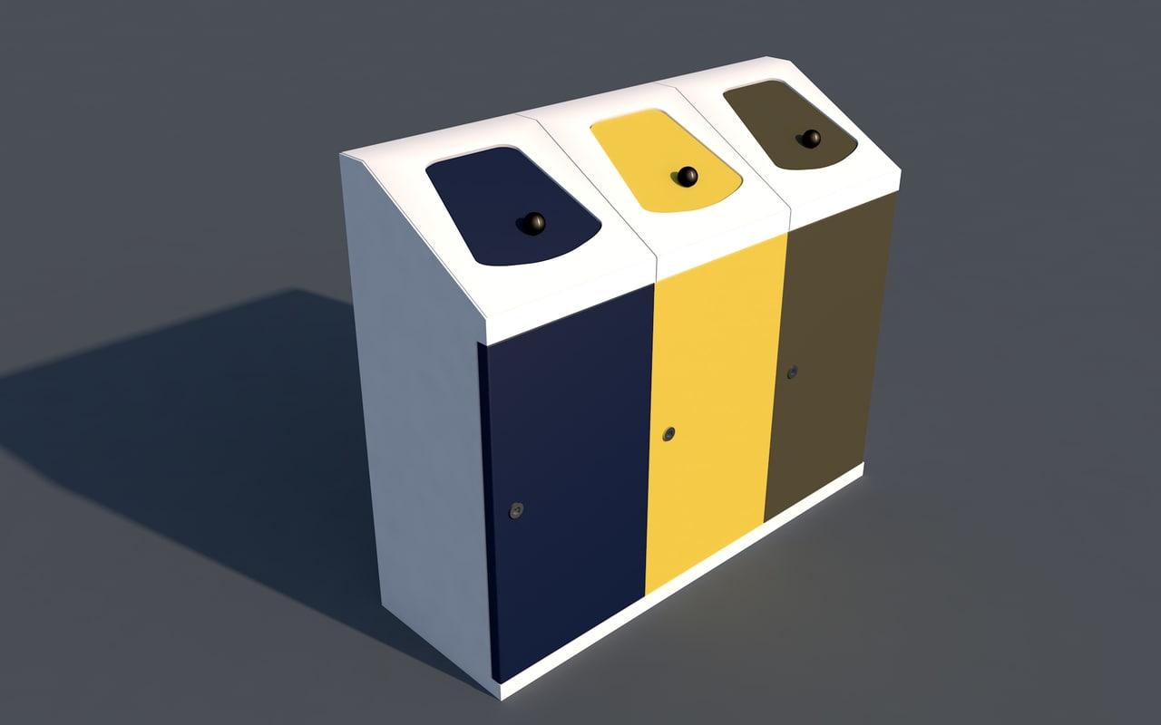 trashbin 3D model