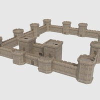 ready castle tower wall model