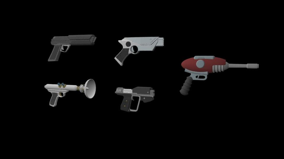3D weapons pistol