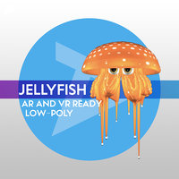 Jelly-Fish LOW-POLY RIGGED AR AND VR READY