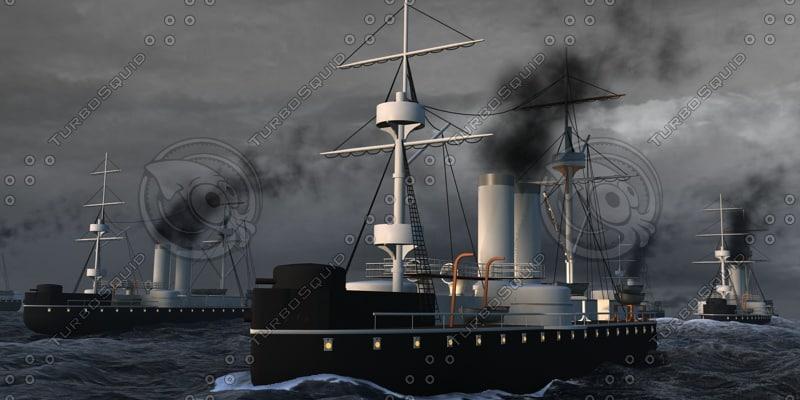 3D battle naval
