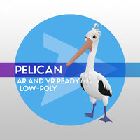Pelican LOW-POLY RIGGED AR AND VR READY