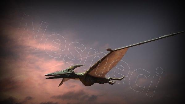 production ready pteranodon rigged model