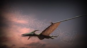 production ready pteranodon rigged model