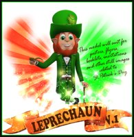 3D leprechaun st patricks model