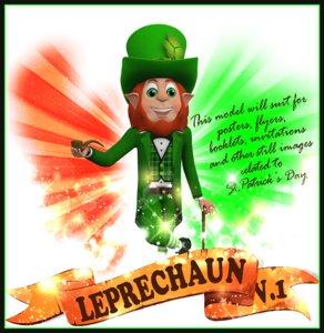 3D leprechaun st patricks model