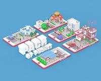 buildings phone mobile 3D model