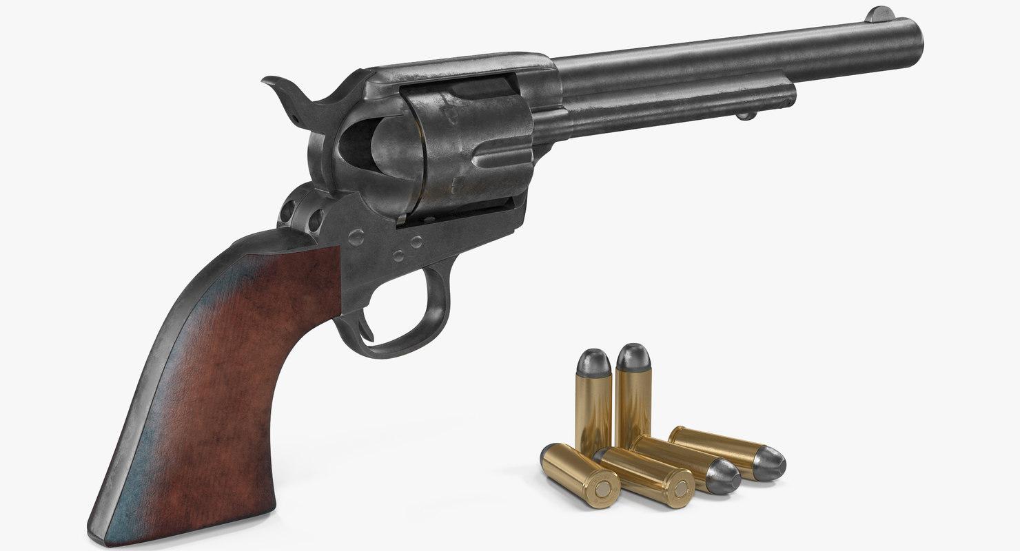 colt 1873 single action 3D