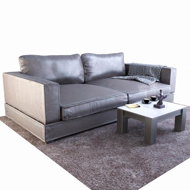 3D sofa matte zlatamebel model