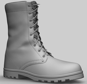 zbrush army boot 3D model
