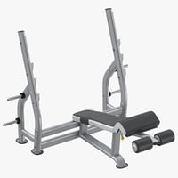 decline press bench 3D model