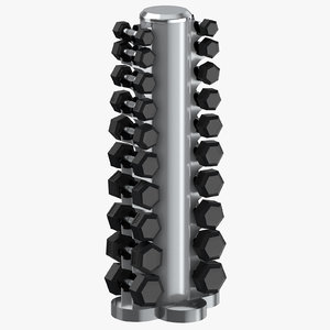 dumbell rack 02 model