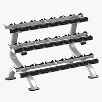 3D dumbell rack 01