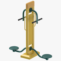 3D street fitness equipment 01
