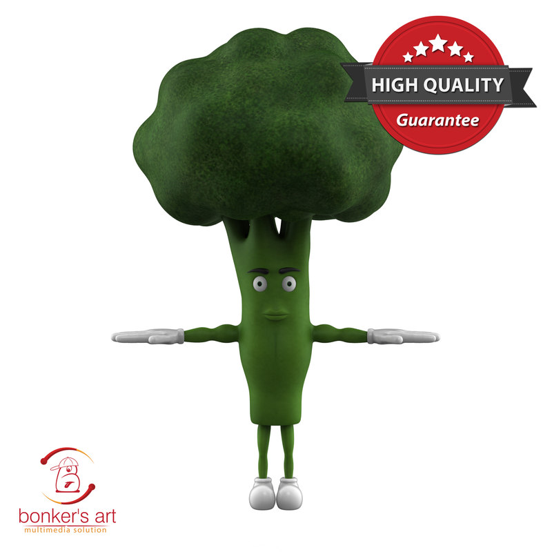 vegetable character 3D model