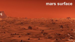 3D model mars surface rocks modelled