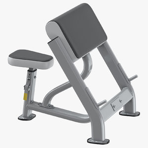 seated preacher curl model