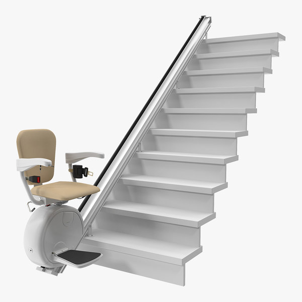 straight stairlift 3D model