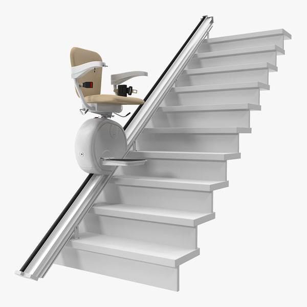 3D straight stairlift rigged