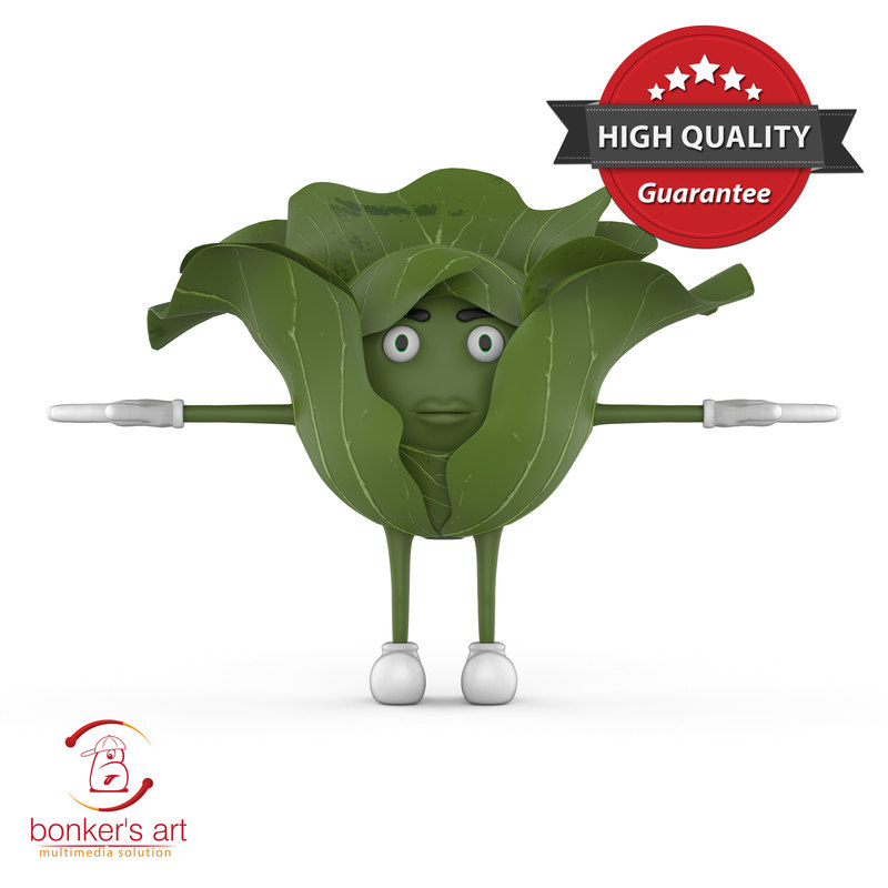 3D vegetable character model