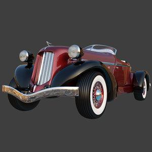 auburn speedster boattail 1934 3D model