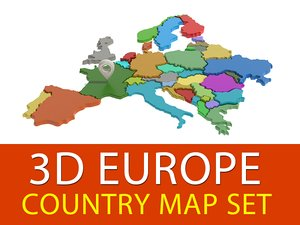 europe country set 3d 3ds