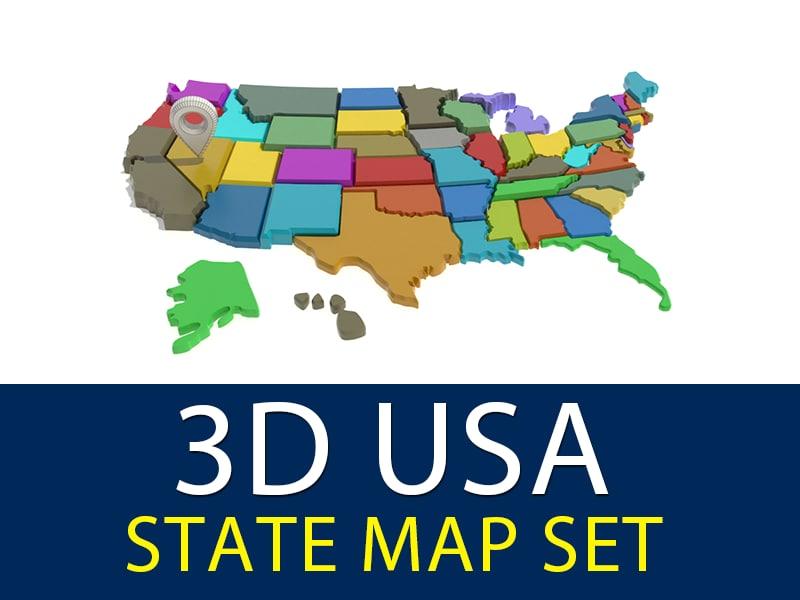 3d usa state