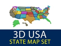 3d usa state