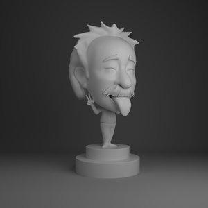 3D einstien bobble head