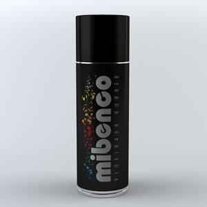 spray realistic 3D model