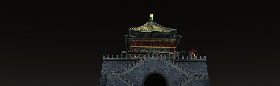 drum tower xi 3D model