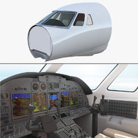 business jet cockpit model