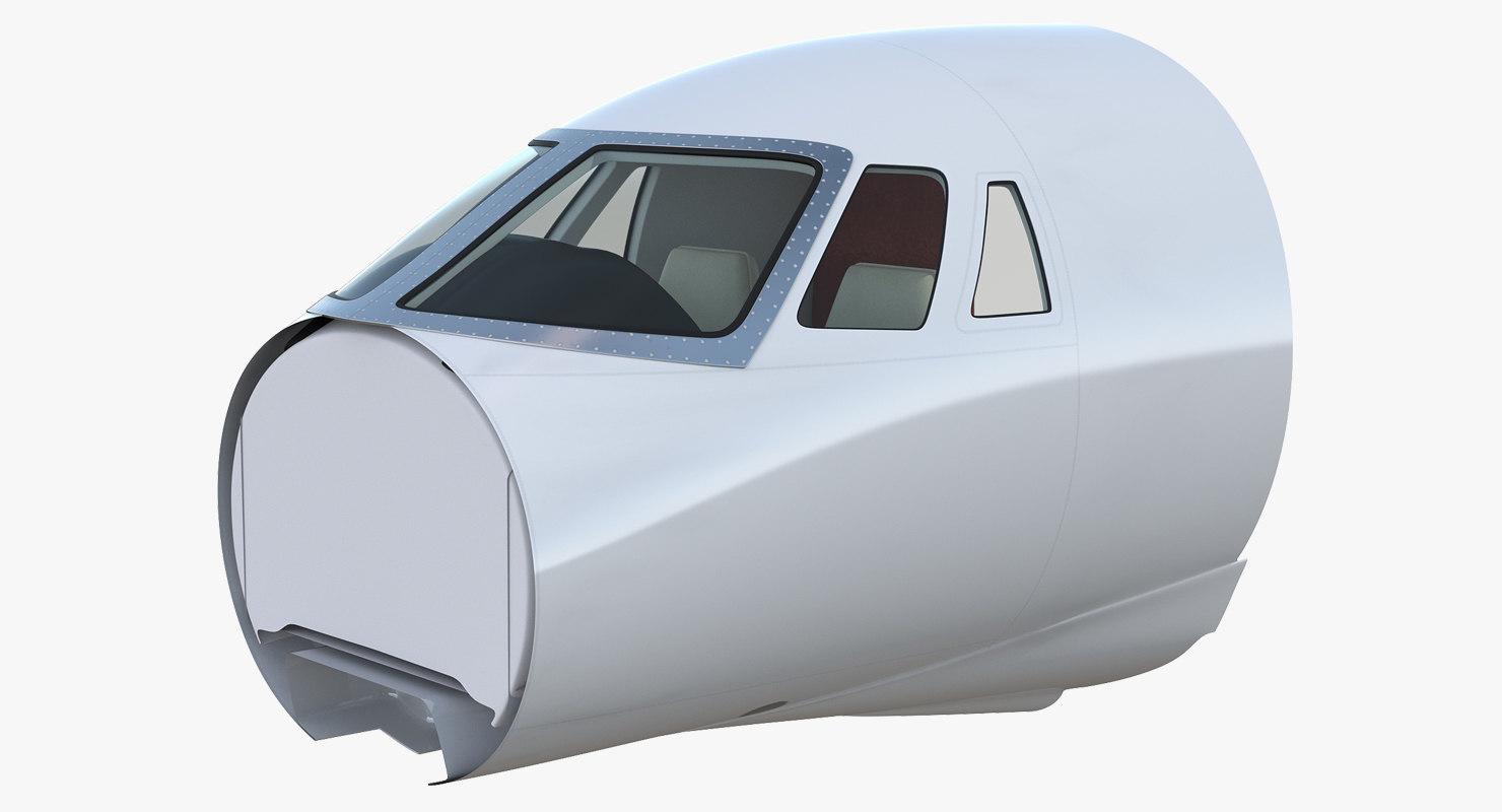 business jet cockpit model