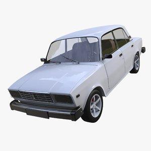 vaz 2107 3d model