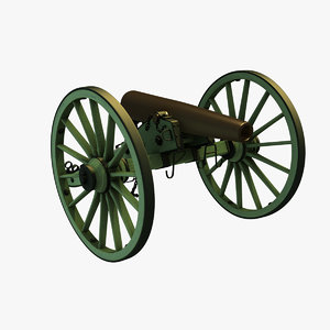 3D 1857 12-pounder napoleon field model