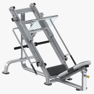 45 leg press 3D