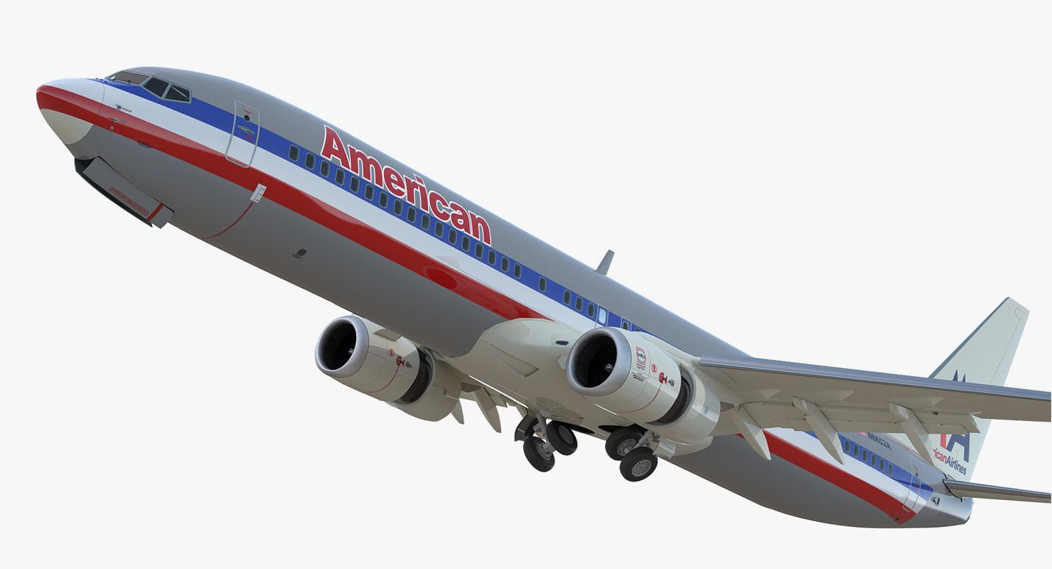 boeing 737-900 er american airlines 3D model