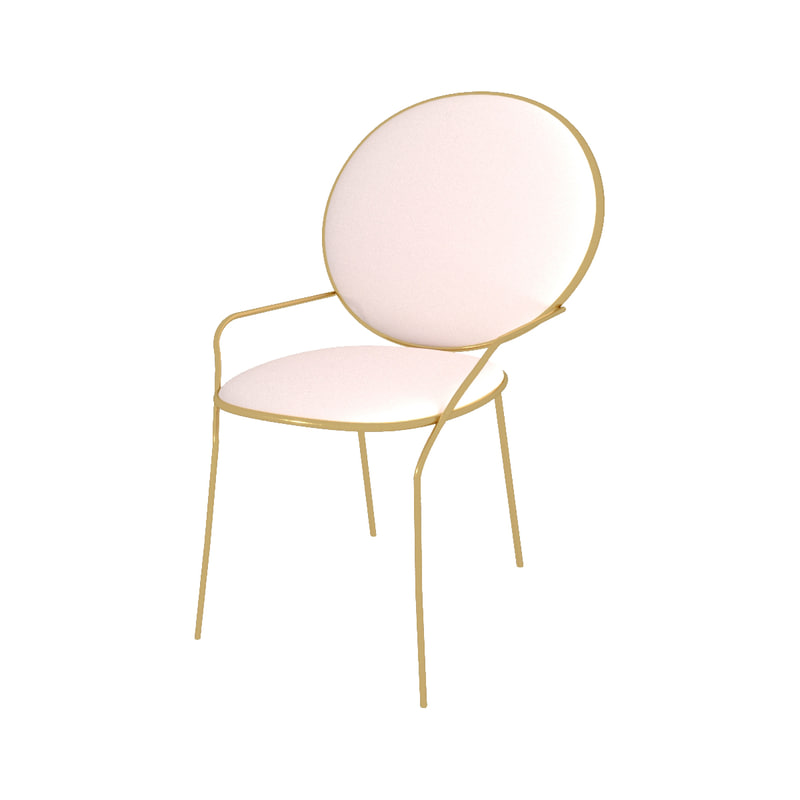 soft gold chair model