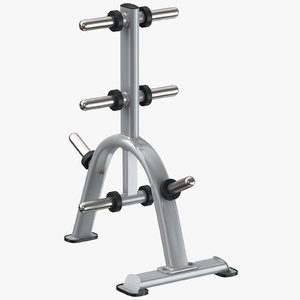3D model weight plates rack