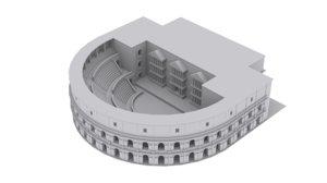 3D roman theatre model