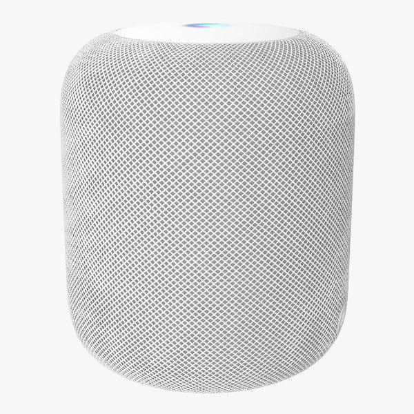 apple homepod smart speaker 3D model