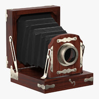 antique folding camera 3D