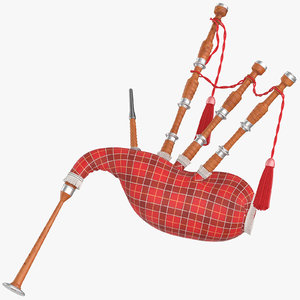 bagpipe traditional 01 3D model