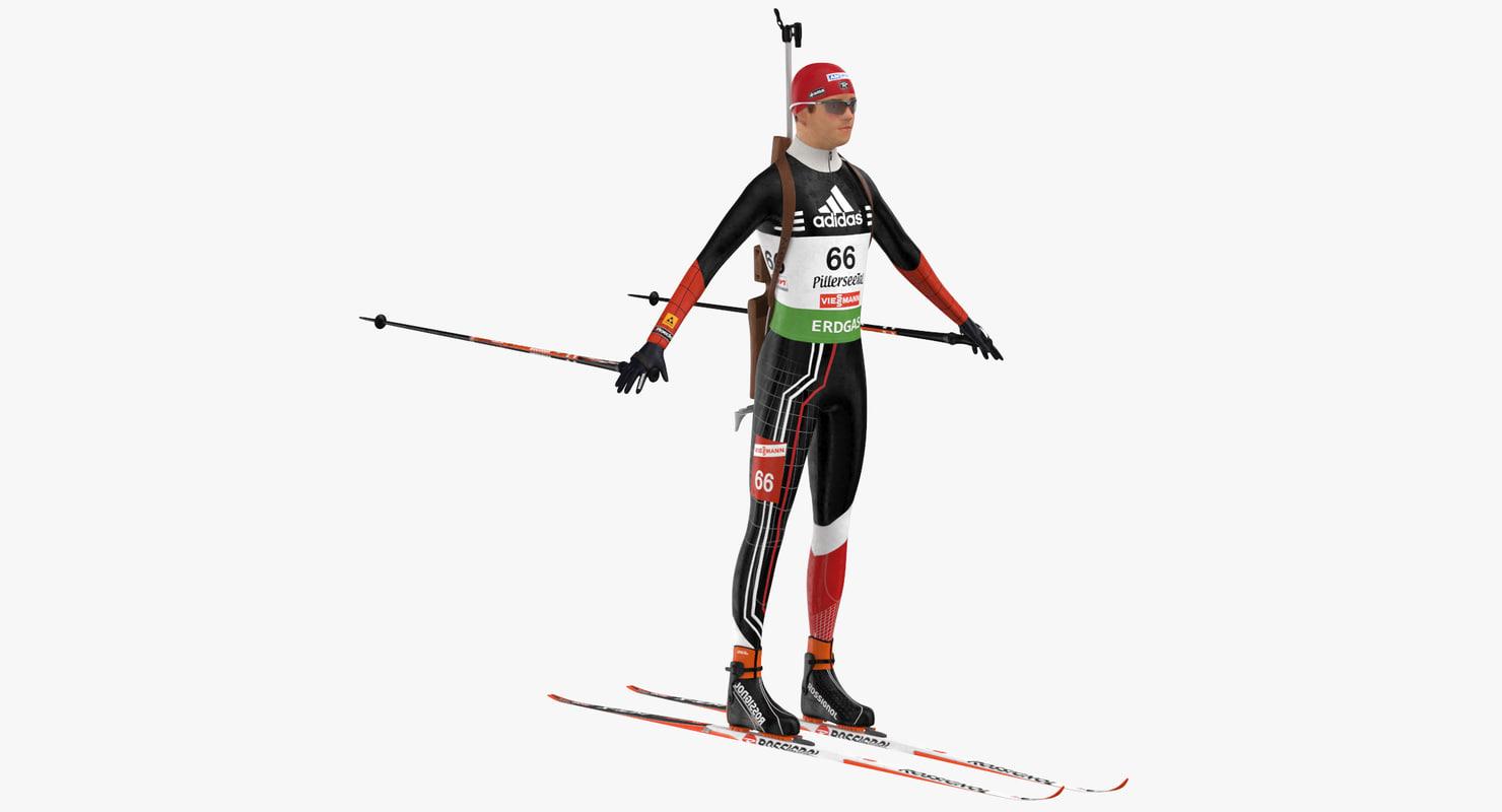 biathlon player 3D