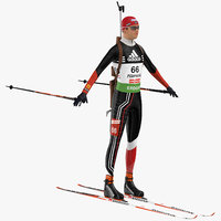 biathlon player 3D