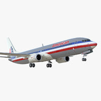 3D boeing 737-900 er american airlines