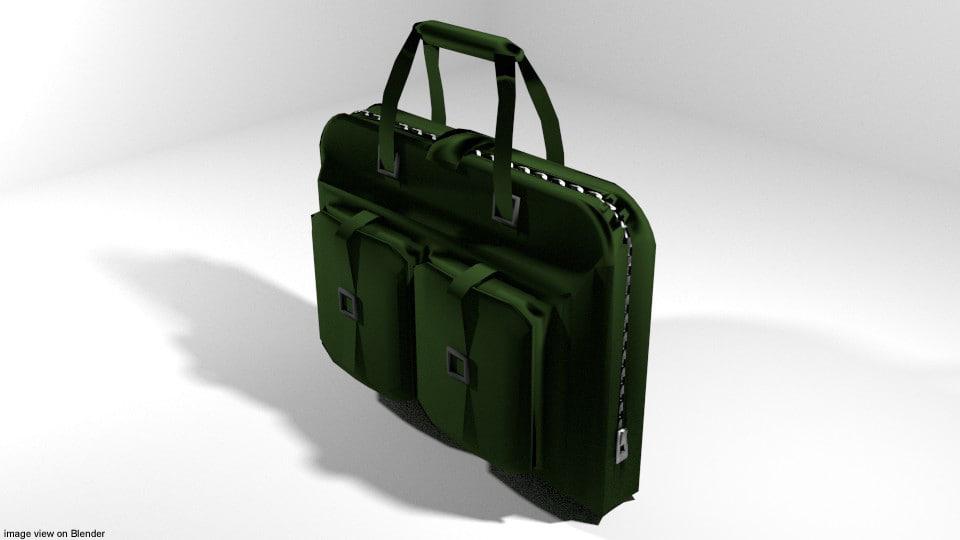 3D briefcase case military