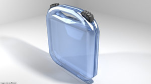 3D briefcase case transparent