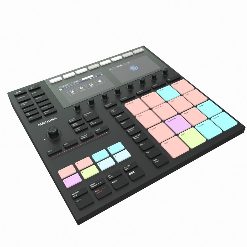 drum machine 3D model